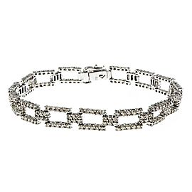14K White Gold & 2ct. Diamond Link Bracelet
