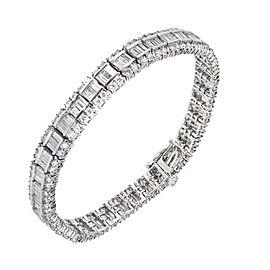 14K White Gold with Diamond Bracelet