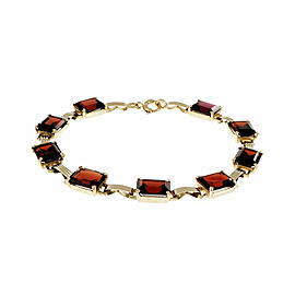 14K Yellow Gold with Rhodalite Garnet Bracelet