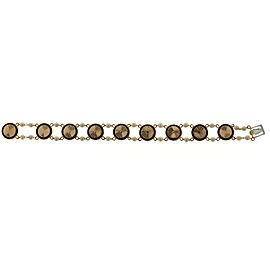 14K Yellow Gold 3.10ct. Red Garnet & Pearl Bracelet