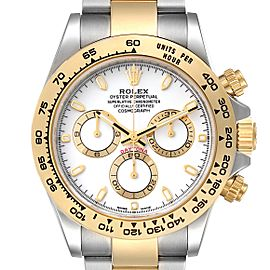 Rolex Cosmograph Daytona Steel Yellow Gold Mens Watch 116503 Box Card