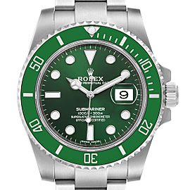 Rolex Submariner Hulk Green Dial Bezel Steel Mens Watch 116610LV