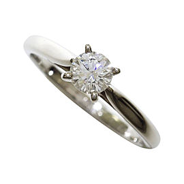 Cartier Platinum 0.23 Ct Diamond Ring Size 3.75