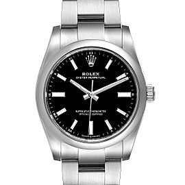Rolex Oyster Perpetual 34mm Black Dial Steel Watch 124200 Unworn