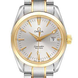 Omega Seamaster Aqua Terra Midsize Steel Yellow Gold Watch 2318.30.00 Card