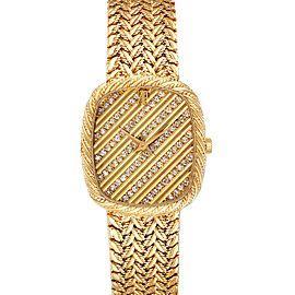 Audemars Piguet 18k Yellow Gold Diamond Dial Cocktail Ladies Watch