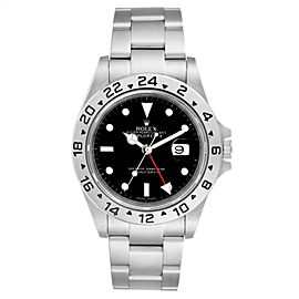 Rolex Explorer II Black Dial Parachrom Hairsprin Mens Watch 16570 Box Card