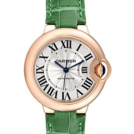 Cartier Ballon Bleu Rose Gold Silver Dial Ladies Watch W6920097 Box Papers