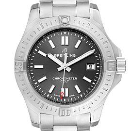 Breitling Colt Grey Dial Automatic Steel Mens Watch A17313 Unworn