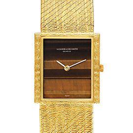 Vacheron Constantin 18k Yellow Gold Tiger Eye Stone Dial Vintage Watch