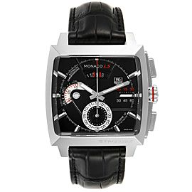 Tag Heuer Monaco Black Dial Automatic Chronograph Mens Watch CAL2110