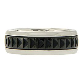 Tiffany & Co. Paloma Picasso Stainless Steel and Titanium Ring Size 10