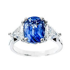 Platinum 3.90ct Sapphire & Diamond Ring Size 6.25