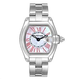 Cartier Roadster Mother of Pearl Dial Steel Ladies Watch W6206006