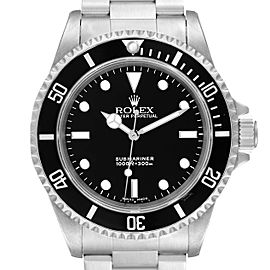 Rolex Submariner 40mm Non-Date 4 Liner Steel Steel Watch 14060 Box Papers