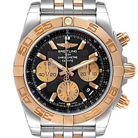 Breitling Chronomat Evolution Steel Rose Gold Mens Watch CB0110 Unworn