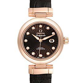 Omega DeVille Ladymatic Rose Gold Diamond Ladies Watch 425.63.34.20.63.001