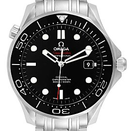 Omega Seamaster Co-Axial Black Dial Watch 212.30.41.20.01.003 Box Card