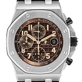 Audemars Piguet Royal Oak Offshore Havana Chronograph Watch 26470ST Box Papers