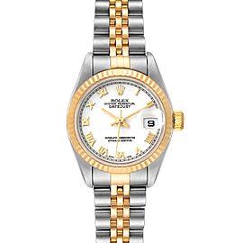 Rolex Datejust 26 Steel Yellow Gold White Dial Ladies Watch 79173