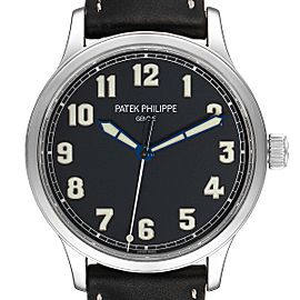Patek Philippe Calatrava Pilot Limited Edition Steel Watch 5522A Box Papers