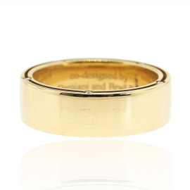 Damiani 18K Yellow Gold Diamond Wedding Band Ring Size 10.25