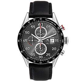 Tag Heuer Carrera Grey Dial Chronograph Mens Watch