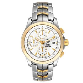 Tag Heuer Link Steel Yellow Gold Chronograph Mens Watch CJF2150