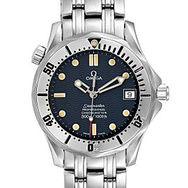 Omega Seamaster Midsize 36 Blue Dial Steel Mens Watch 2552.80.00