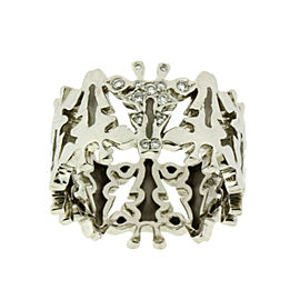 Carrera y Carrera 18K White Gold Diamond Giraffe Ring, Size 6.25