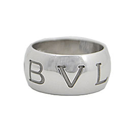 Bvlgari 18k White Gold Ring Size 7.5