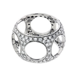 Damiani 18K White Gold Diamond Ring