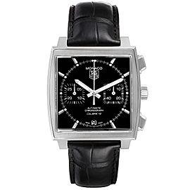 Tag Heuer Monaco Black Dial Automatic Steel Mens Watch