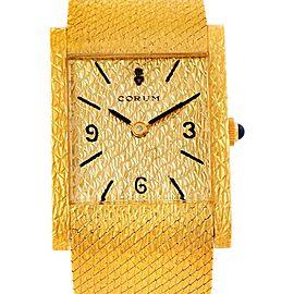 Corum 8764 Vintage 18K Yellow Gold Mens Watch