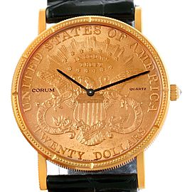 Corum 441455620 Dollars 1904 Double Eagle Yellow Gold Coin Mens Watch