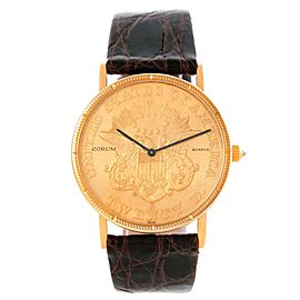 Corum Year 1861 20 Dollars Double Eagle Yellow Gold Coin Mens Watch