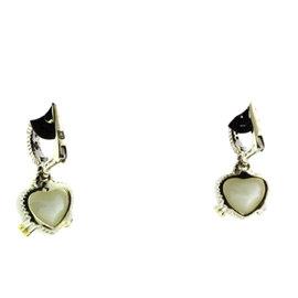Judith Ripka Diamond 18K White Stone & Sterling Silver Earrings