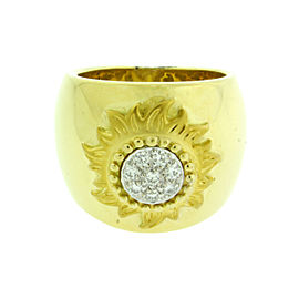 "Carrera Y Carrera 18K Yellow Gold ""sol Y Sombra"" Diamond Sun Ring"