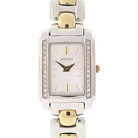 Seiko SUJF41 Two-Tone Stainless Steel Diamond Mother Of Pearl Dial 18mm Womens Watch