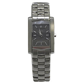 Bulova 96L79 Stainless Steel Charcoal Grey Dial Womens Watch