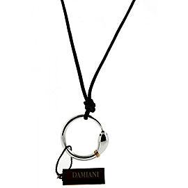 Damiani 18K White Gold .01 Carat Diamond Cord Necklace