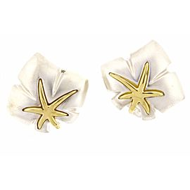 Tiffany & Co. Sterling Silver & 18K Yellow Gold Ivy Starfish Earrings