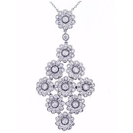 Tiffany & Co. Platinum Diamond Flower Necklace