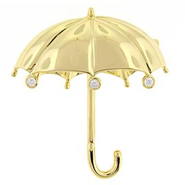 Tiffany & Co. 18K Yellow Gold Umbrella Brooch