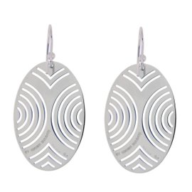 Enigma Sterling Silver Oval Earrings