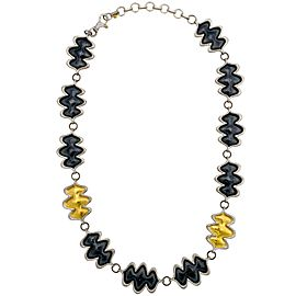 Gurhan Sterling Silver and Yellow Gold Flame Necklace