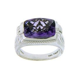 Judith Ripka 925 Sterling Silver Amethyst Ring