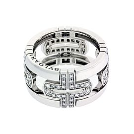 Bulgari 18K White Gold Large Parentesi Band Ring