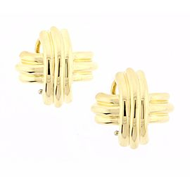 Tiffany & Co. 18K Yellow Gold Signature X Earrings