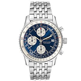 Breitling Navitimer II Blue Dial Steel Mens Watch A13022 Box Papers